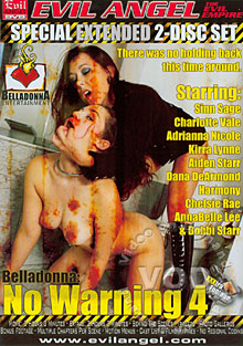 Belladonna: No Warning 4 (Disc 1) Box Cover