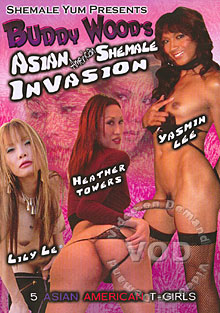 Buddy Wood's Asian-American Shemale Invasion Box Cover
